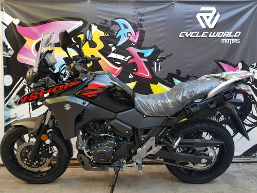 suzuki 250 v strom touring 0km 2018 negro cycle world motors