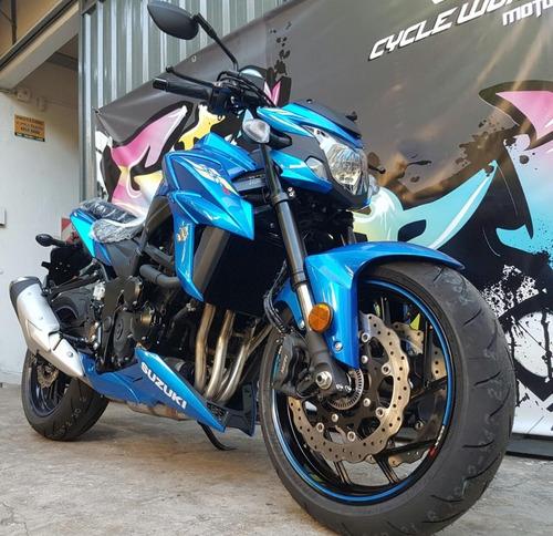 suzuki 750 gsx abs naked 0km 2019 japon 100% azul al 31/8