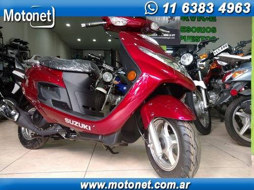 suzuki an125 scooter 0km cuotas fijas tarjeta financiacion