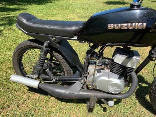 suzuki ax 100 modificada, como nueva! cafe racer - scrambler