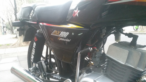 suzuki ax 100 negra 2012