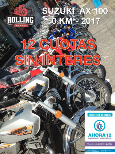 suzuki ax100 azul 0km motos 2018 hot sale