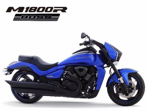 suzuki boulevard m1800 boss rbz 0km 2018/2019 azul