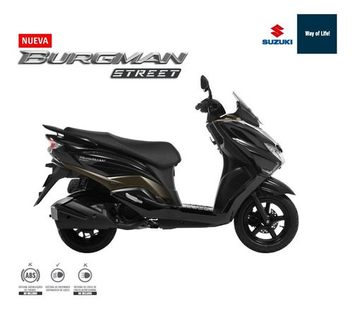 suzuki burgman 125cc 2020  - financiable + casco