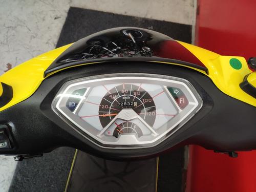 suzuki burgman 125i 125 i 2015 amarela amarelo