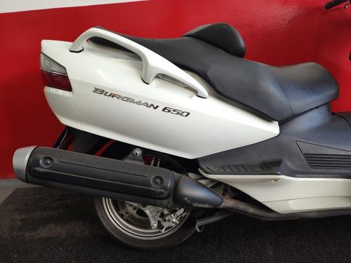suzuki burgman 650 2011 branca branco