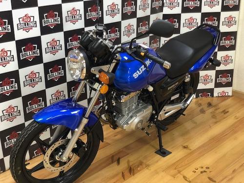 suzuki en125 2a azul tipo yamaha ybr 125