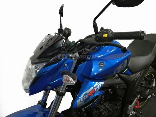 suzuki gixxer 150 2020 rojo negro y azul
