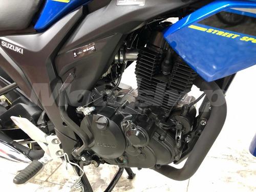 suzuki gixxer 150cc color azul 2019 patentamiento incluido