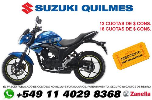 suzuki gixxer gsx 150 financio 100% garantia oficial quilmes