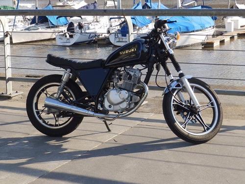 suzuki gn 125 cafe racer, no street tracker