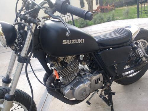 suzuki gn 250 estilo bobber, todo a nueva, excelente estado