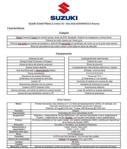 suzuki grand vitara gls v6 3.2 litros