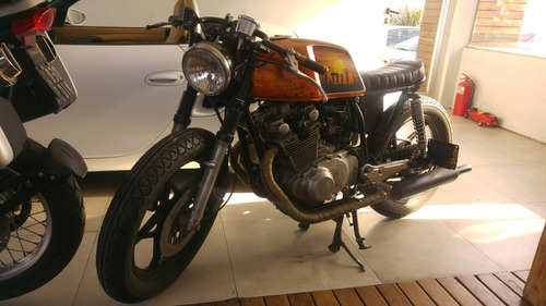 suzuki gs 450 cafe racer restaurada 1981 hoffen