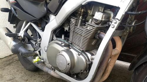 suzuki gs500e ótimo estado tudo ok (troco carro moto) - 2002