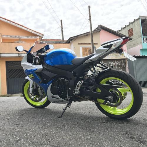 suzuki gsx-r 750 srad azul impecável