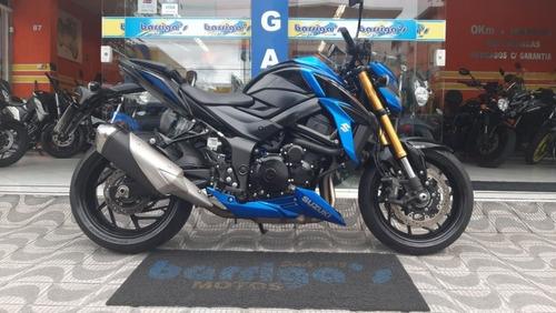 suzuki gsx-s 750 abs azul 2018 impecável