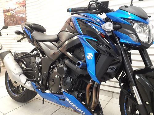 suzuki gsx-s 750a azul ( equipada )