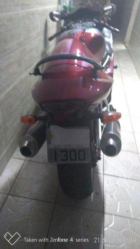 suzuki gsx1300r hayabusa ano 2001 vermelha c/ cinza