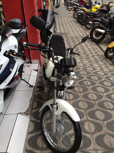 suzuki jta gs120 ano 2017 branca shadai motos