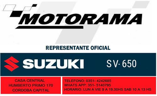 suzuki sv 650 0km entrega inmediata - concesionaria motorama