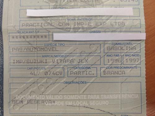 suzuki vitara unica dona 1997 metal top jlxi 65.000 km orig