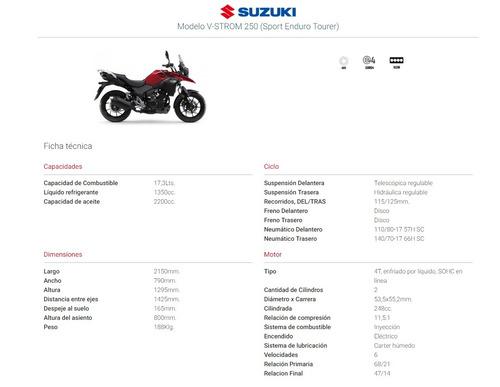 suzuki vstrom dl 250 l8 lanzamiento en stock ya entrega ya