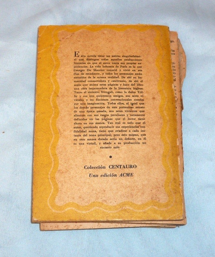 svengali trilby g. du maurier acme 1956 novela