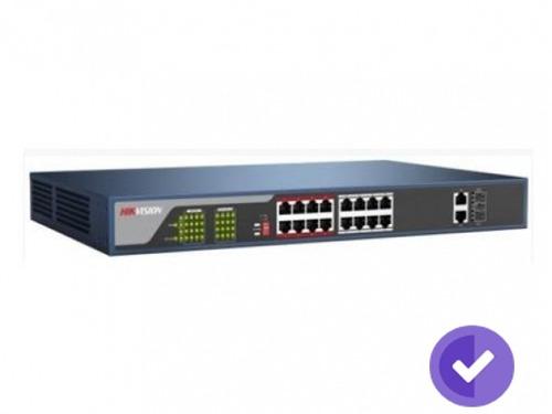 sw hikvision 16-port 10/100 mb/s poe