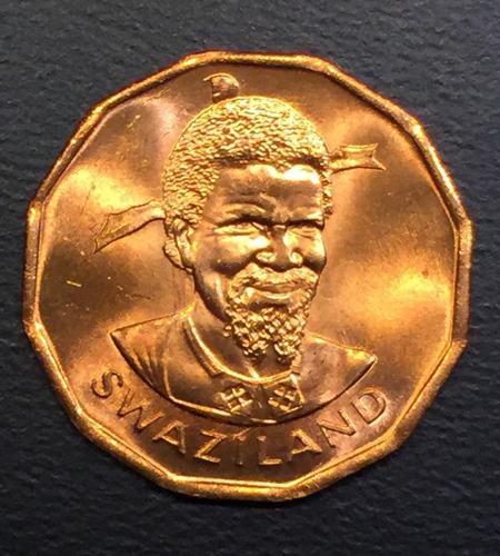 swa002 moneda swazilandia 1 cent 1982 unc-bu ayff