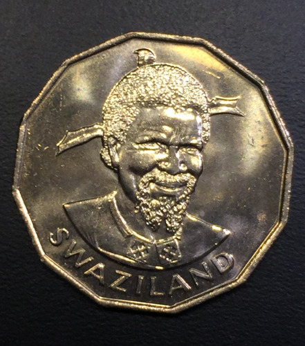 swa011 moneda swazilandia 50 cents 1981 unc-bu ayff