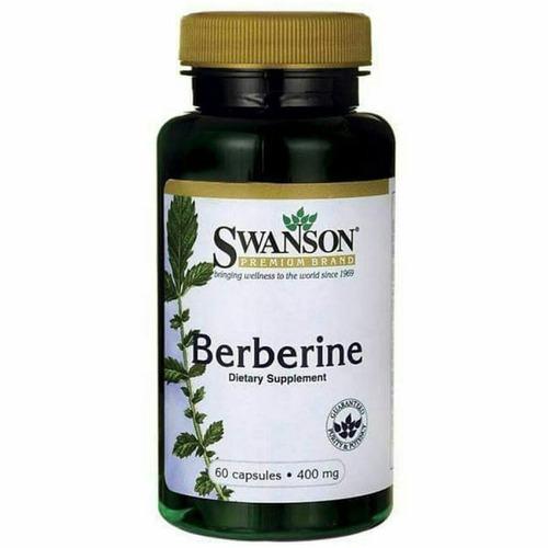 swanson berberine suplemento p/la diabetes 60 cap 400mg 4118