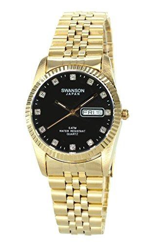c413875877ba Swanson Dial Piedra Con Esfera Reloj Oro Hombre Blanco -   266.990 ...