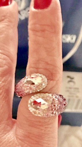 swarovski anillo 100 % original talla # 58 nuevo / ref.