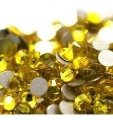 swarovski piedras strass para uñas ss16 - 4mm citrine