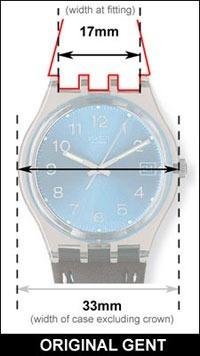 swatch correa reloj repuesto silicona 17mm blanca