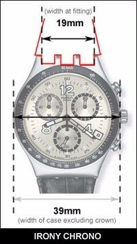 swatch correa reloj repuesto silicona 19mm gris