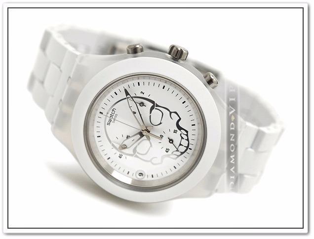 f7dc3a12add relógio swatch original irony skull feminino branco caveira relógio swatch  feminino swatch feminino relógio