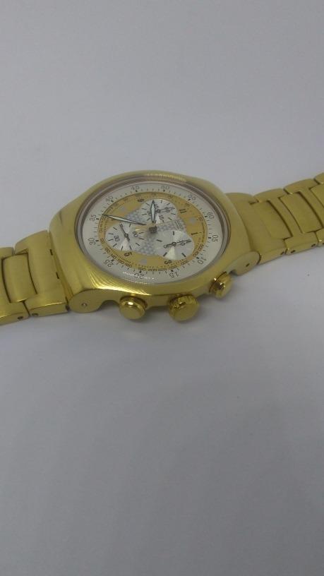 4dbd711e1fd swatch golden chest série ouro seminovo. Carregando zoom.