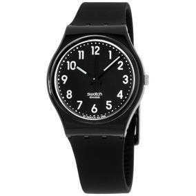 De Gb247 Negro Dial Mujeres Swatch Cuarzo Luminoso Reloj 0wXnPk8O