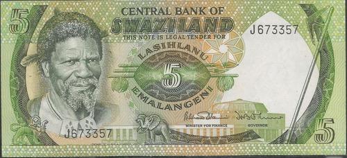 swaziland, 5 emalangeni 1974 p3a