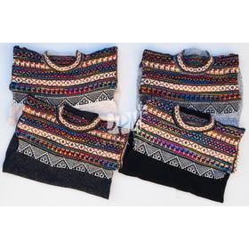 Sweater - Modelo Tricolor (lana - Alpaca - Llama)