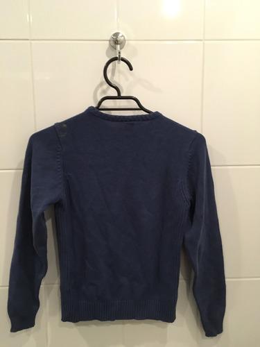 sweater algodon azul oscuro zara talla 9-10 años