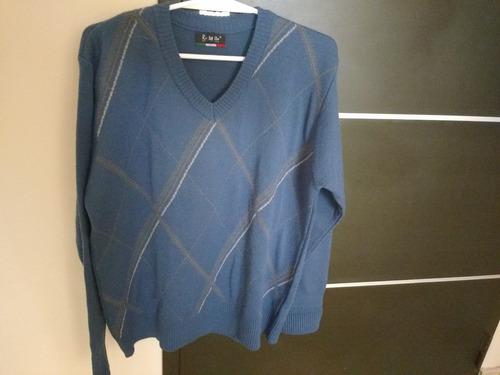 sweater azul hombre  como nuevo !