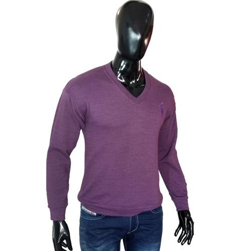 sweater buso hombre, slim fit, moda cuello v hilo spandex