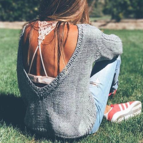 sweater chick escote detras mujer alfonsina multistore