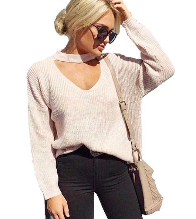 Sweater Choker Mujer Moda Dama Primavera 2019