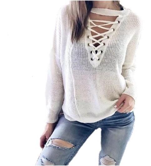 Sweater Choker Mujer Moda Invierno 2019 Sweater Dama