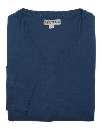 sweater clásico m/l cuello v.
