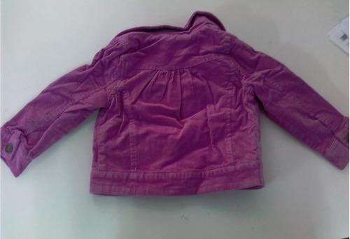 sweater color lila en pana talla 2 para niña d 12 a 18 meses